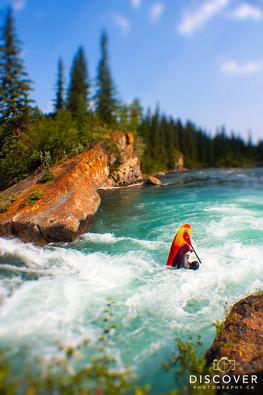 kayaker Canoe Meadows Kananaskis