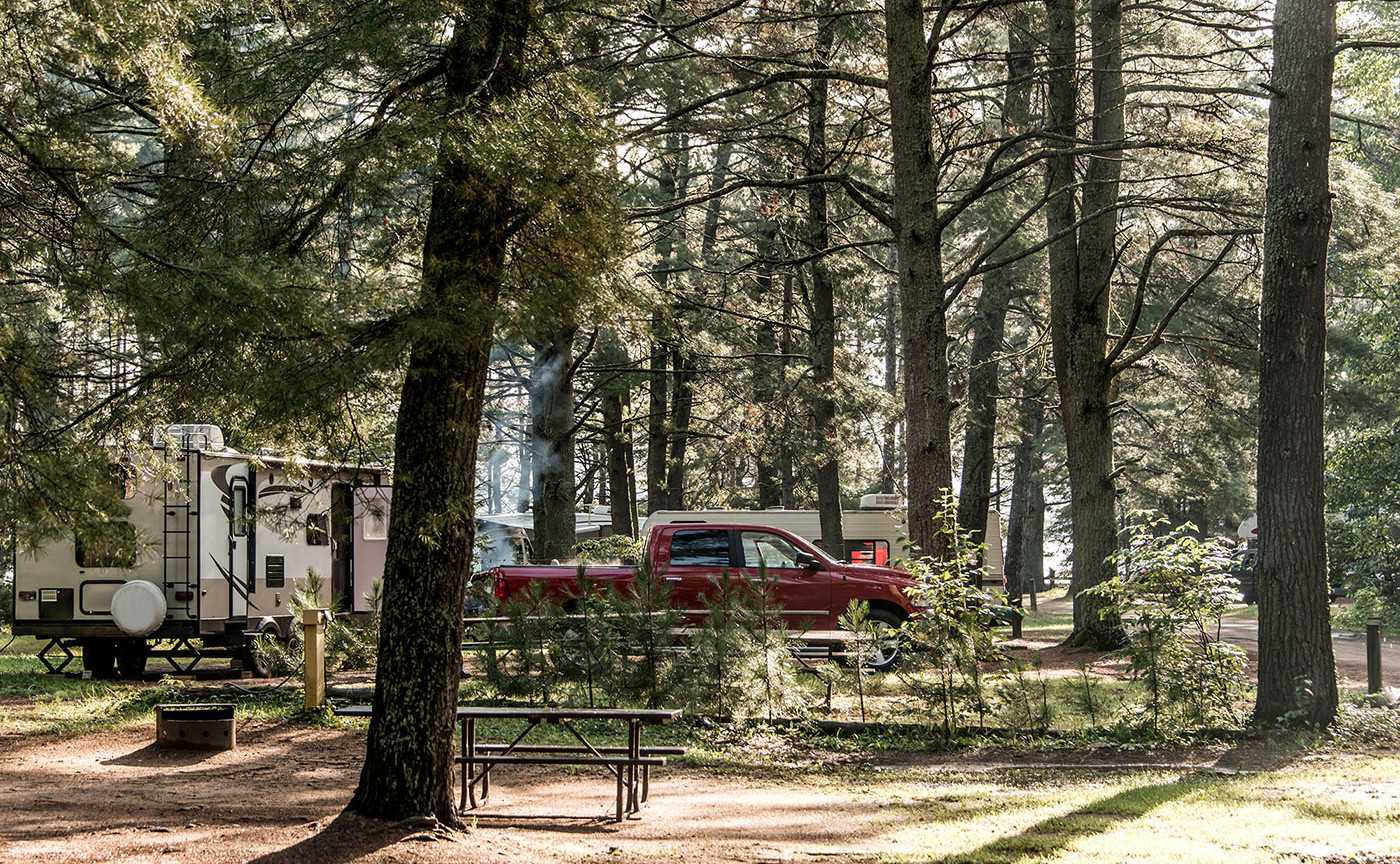 full hookup campground sites