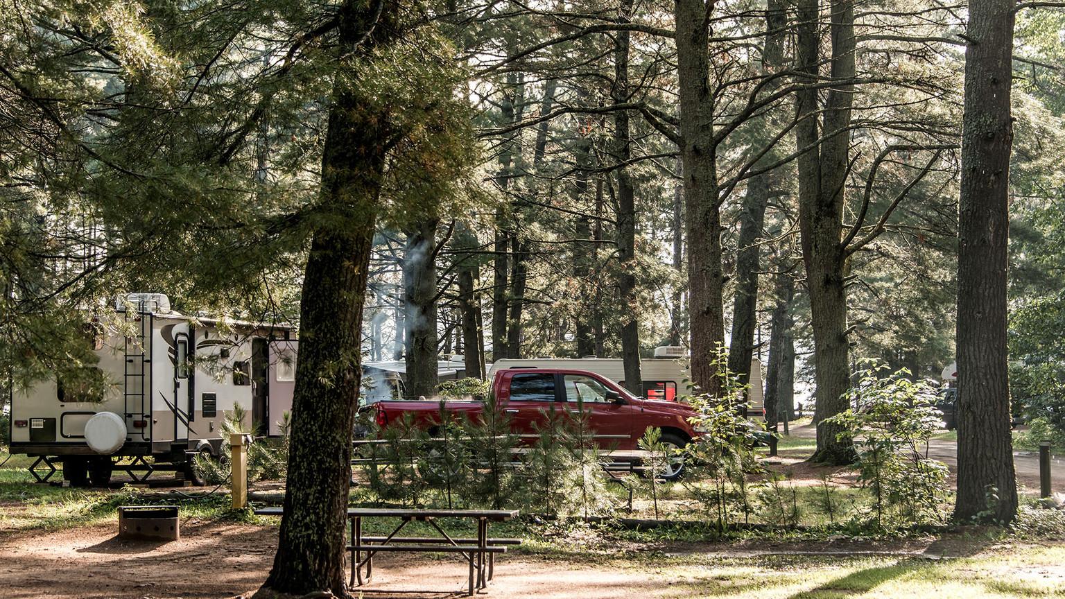 serviced RV lot campsites