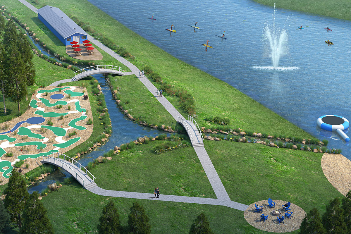 Mini Golf, Recreation Centre and Community Fire Pit