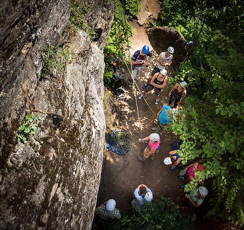 rock climbing lessons