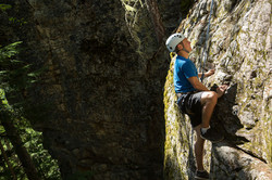 climbing Revelstoke