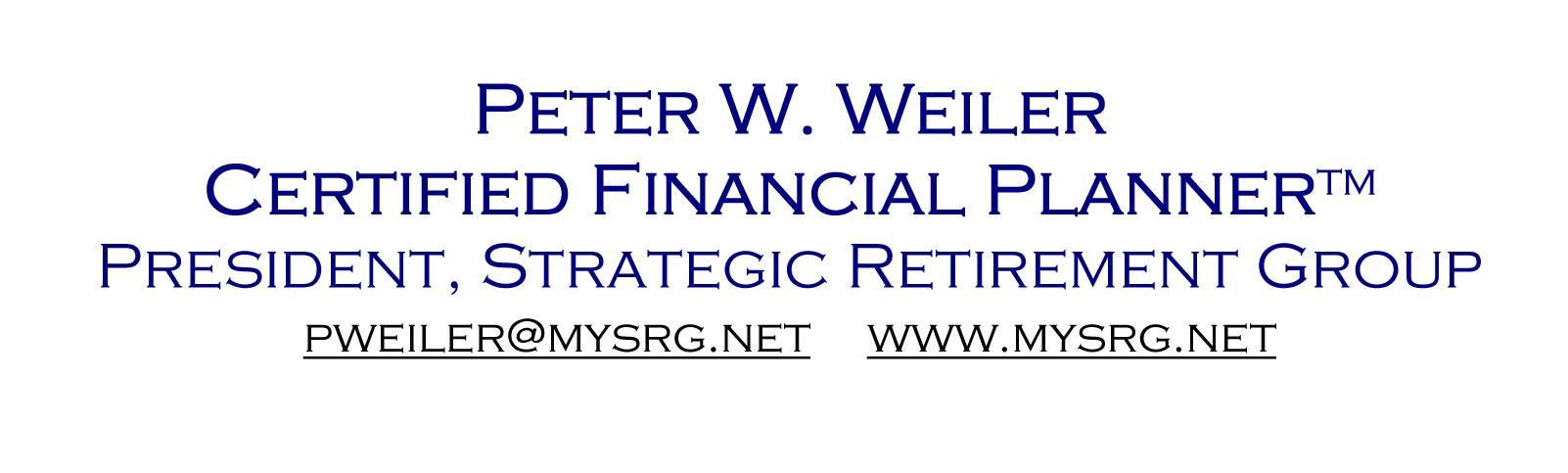 Peter W. Weiler Certified Financial Planner