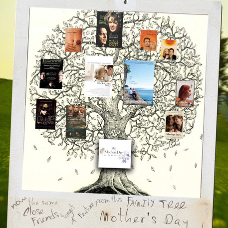 Here's a tree. The photo says, Now, the same Close Friends target a no-budget Feature Film in the family tree of these greats. Mother's Day. That's what this is. Now we're getting somewhere.