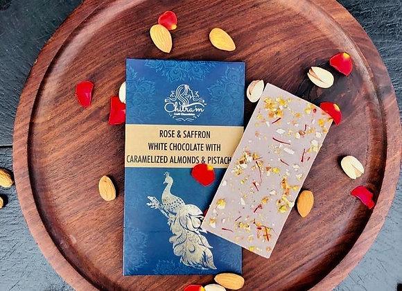 Rose & Saffron White Chocolate