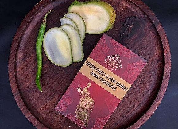 Green Chilli & Raw Mango Dark Chocolate