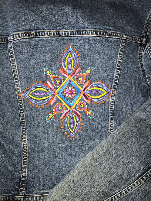 Denim Mandala Jacket