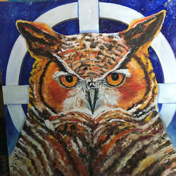 Owl on Medicine wheel_Northern Owl_ sold