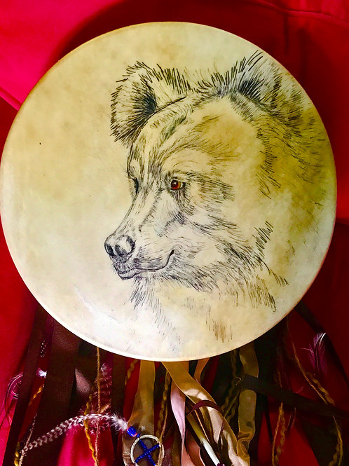 handmade drum from Elk hide
