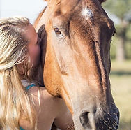 adult woman equine therapy