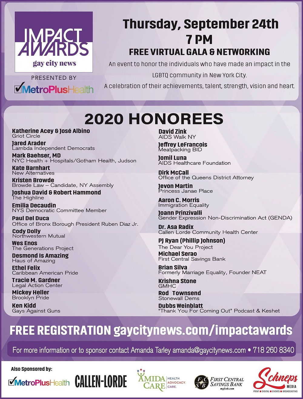 Gay City News Impact Awards 2020