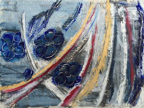 Blue Floating Flowers