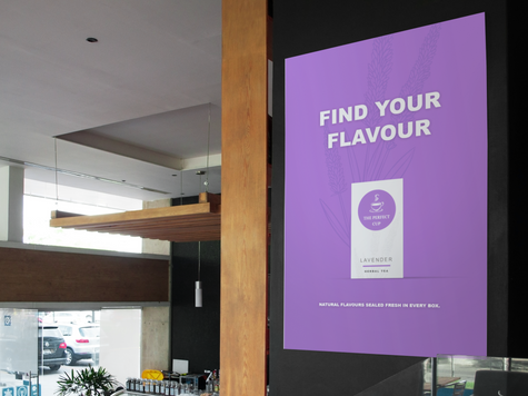 The Perfect Cup - Purple Poster Mockup