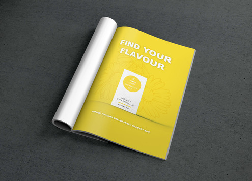 The Perfect Cup - Yellow Magazine Ad Mockup