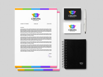 Chroma Brand Guidelines - Stationary Mockup