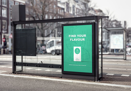 The Perfect Cup - Green Bus Poster Mockup