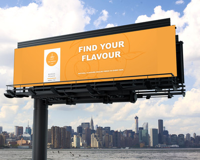 The Perfect Cup - Orange Billboard Mockup
