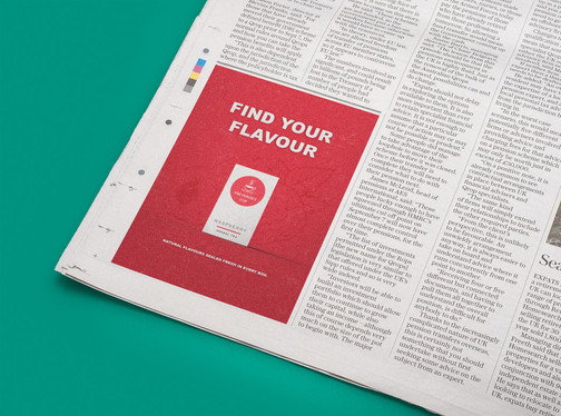 The Perfect Cup - Red News Ad Mockup