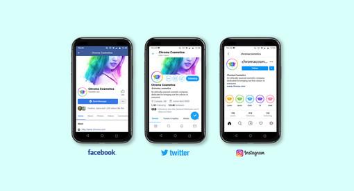 Chroma Brand Guidelines - Social Media Mockup