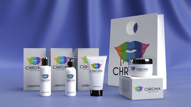 Chroma Brand Guidelines - Cosmetic Products Mockup