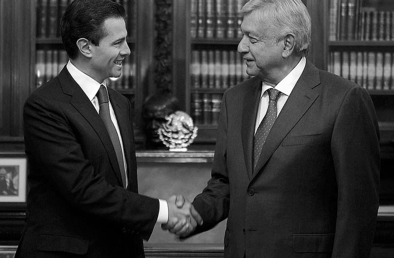 Enrique Peña Nieto con Andrés Manuel López Obrador