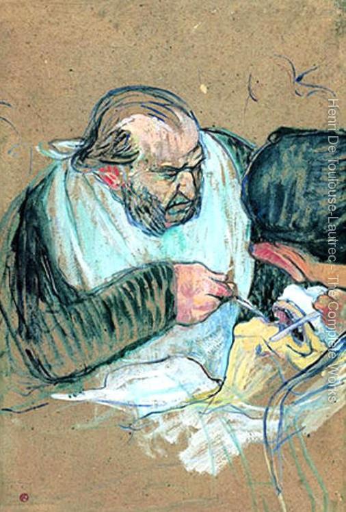 Dr. Pean ameliyatta / Sanatçı: Toulouse Lautrec /  Foto: toulouse-lautrec-foundation