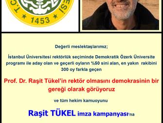 Rektör: Profesör Raşit TÜKEL