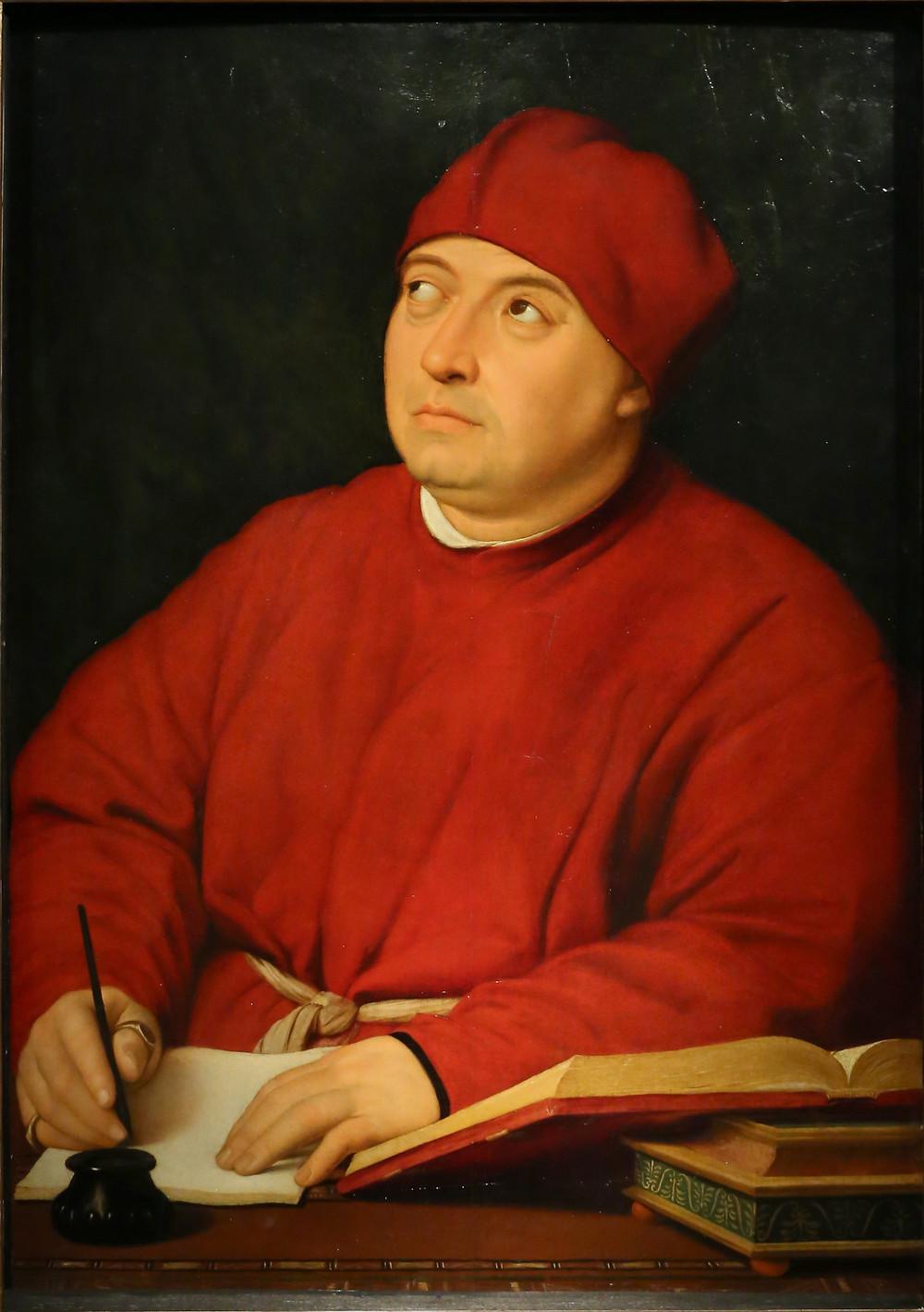 Tommasso Inghirami'nin Portresi. Sanatçı: Raffaello Sanzio da Urbino  1483 – 1520