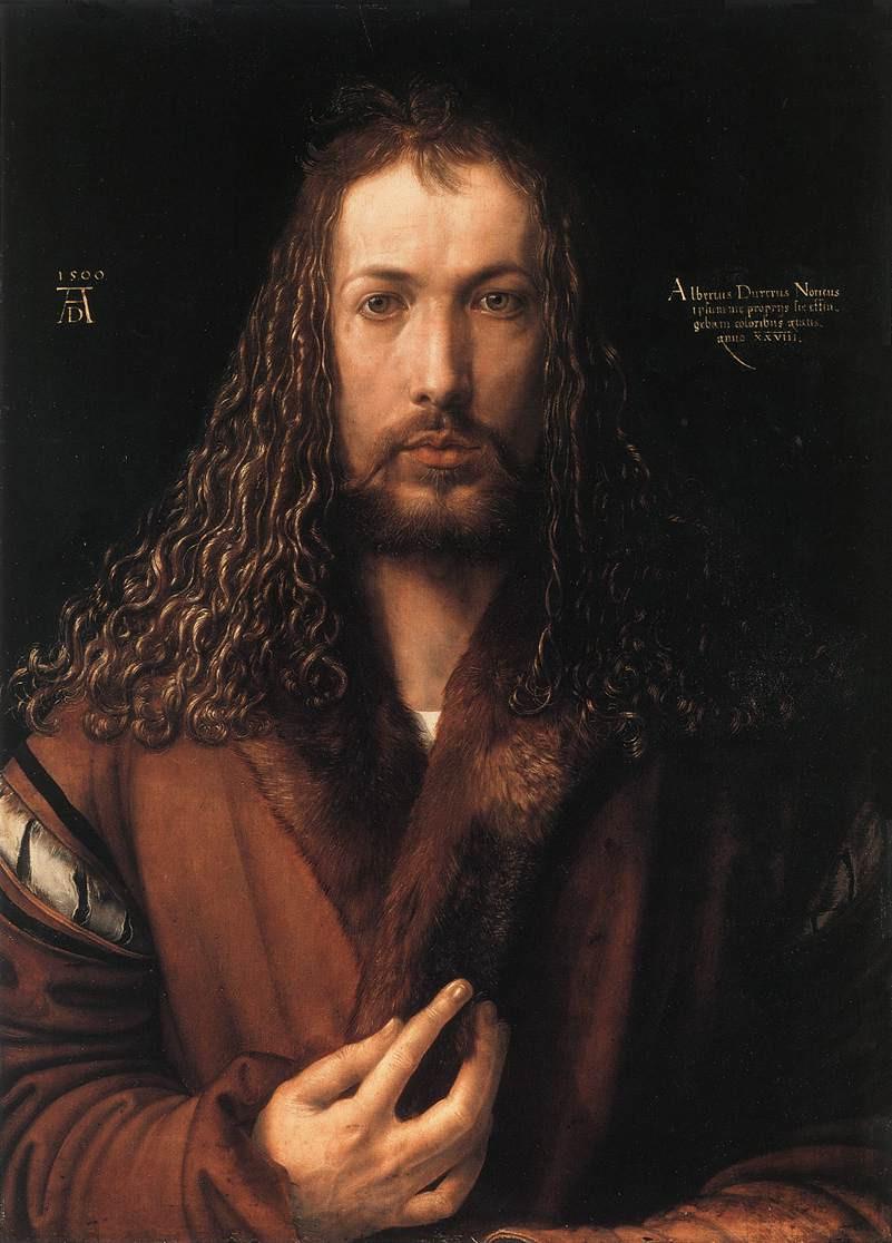 Albrecht Dürer otoportre. / Alte Pinakothek sanat müzesi - Münih