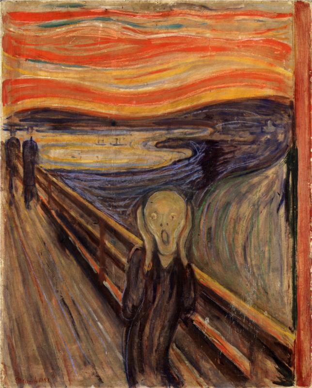 Çığlık / Sanatçı: Edvard Munch / National Gallery, Oslo, Norway