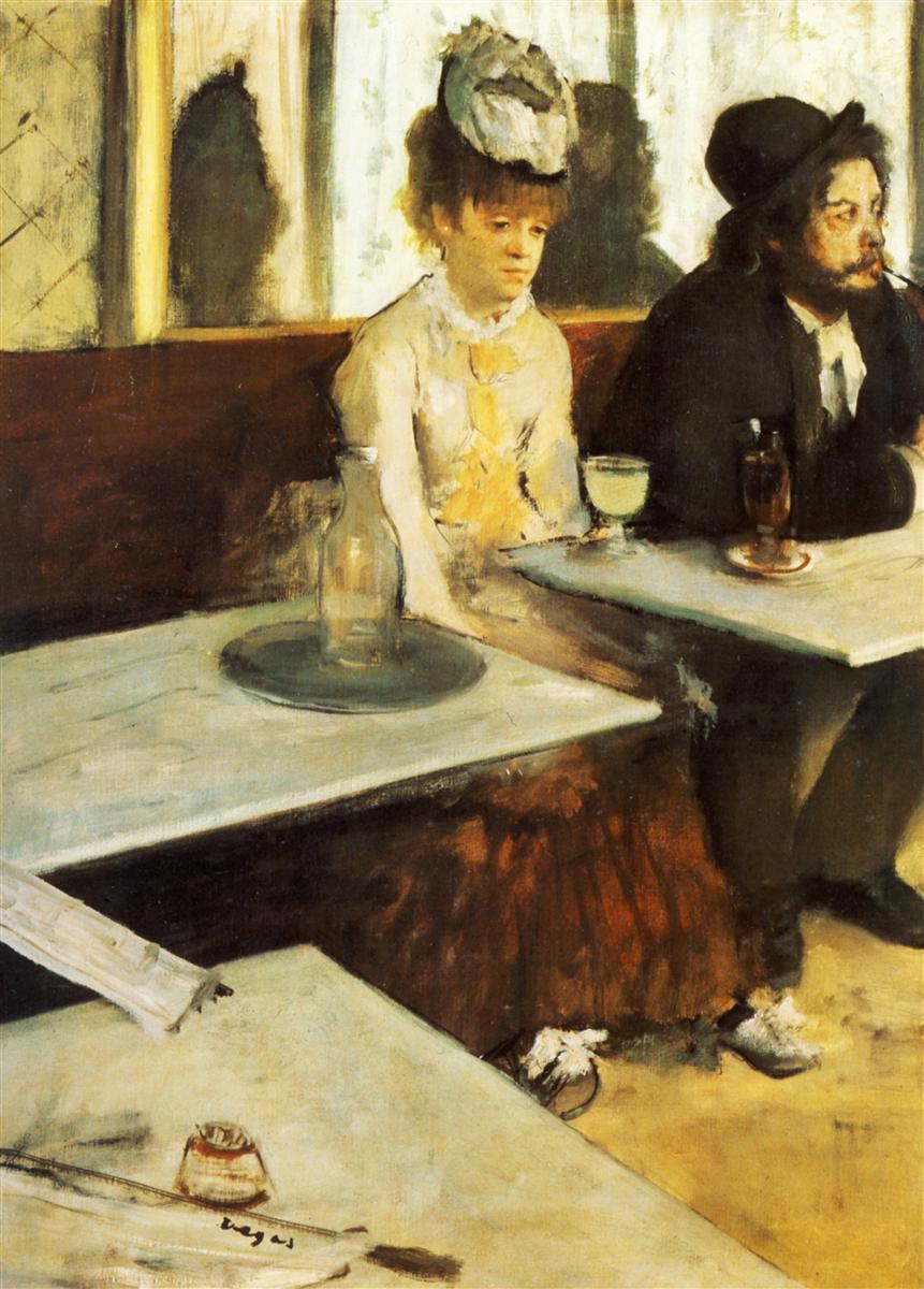 Au Café (l'Absinthe) / Sanatçı: Edgar Degas / Musée d'Orsay, Paris, France