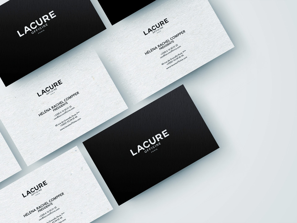 LACURE OFFICINE - Business Cards Mockup