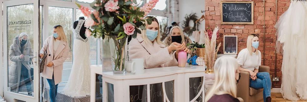Elizabeth Kate Bridal Crowle Scunthorpe Bride Entering Boutique
