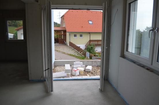 Blick vom Wohnzimmer aus
