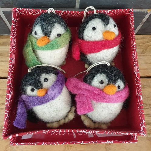 Hanging Felt Penguins