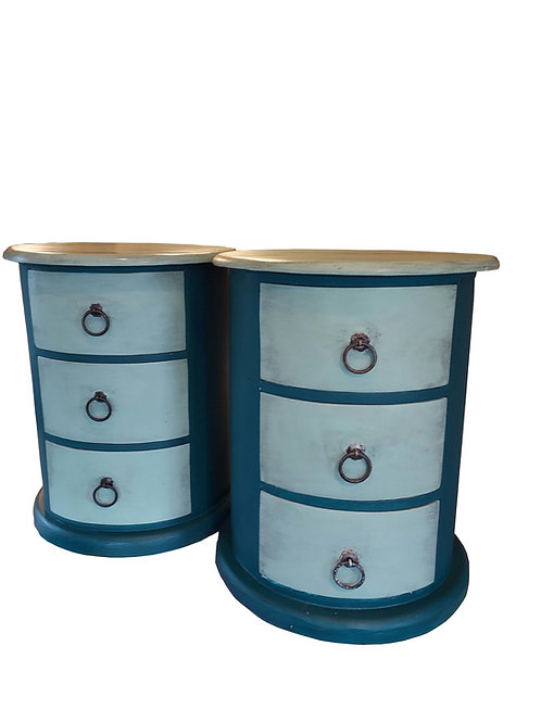 Painted Round Bedside Chests