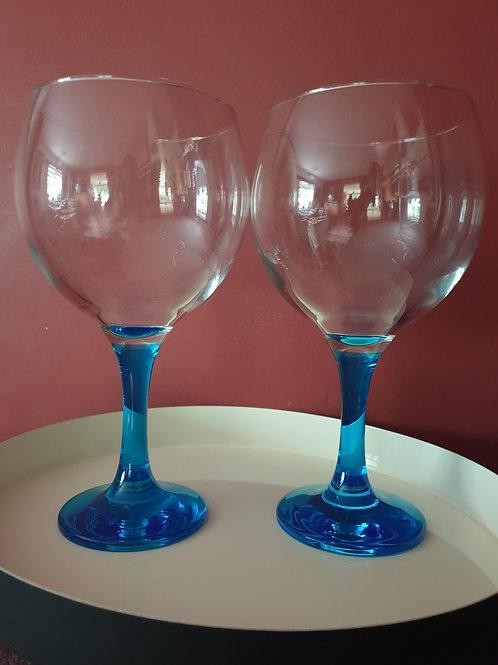 Gin & Tonic Glasses Blue Stem