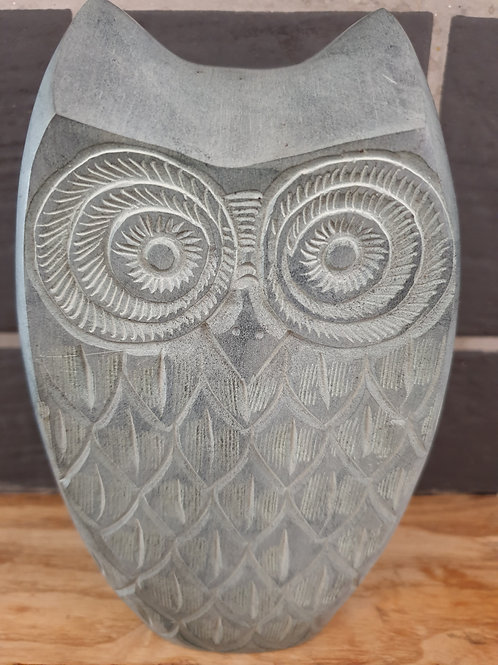 Soapstone Owl Bookends