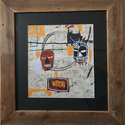 copy of Framed Jean Michel Basquiat Print (Giclee)