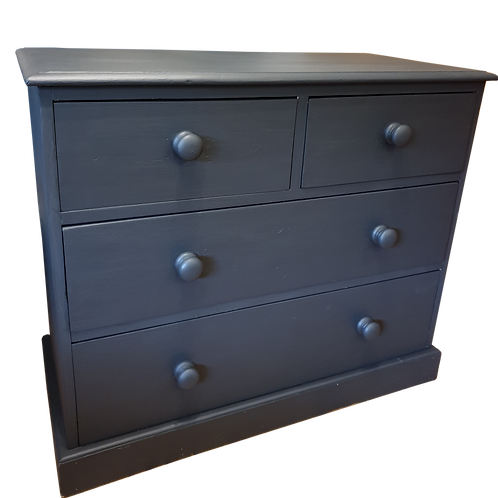 Painted Black Chest of Drawers (Upcycled)