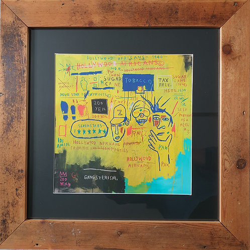Framed Jean Michel Basquiat Print (Giclee)
