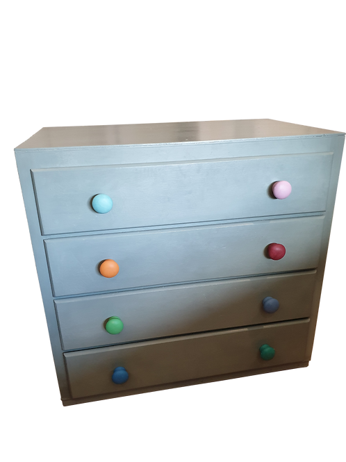Painted Chest of Drawers (Upcycled)