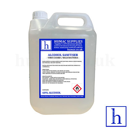 Alcohol Sanitiser Rubbing Hand Gel- 5L