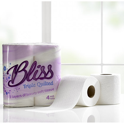 BLISS 3PLY TOILET ROLL 80 SOFT QUILTED  - OLS