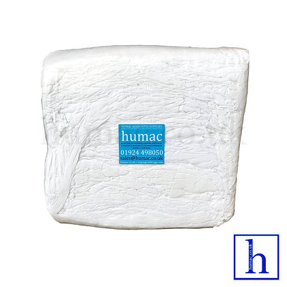 10KG WHITE WIPER - WIPING CLOTH RAGS- OLS