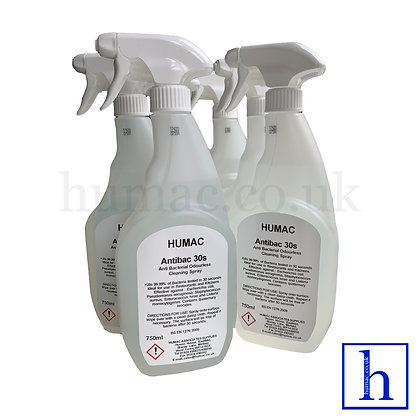 AntiBac 30 second Fast Action Anti Bacterial Odourless Cleaning Spray 6 x 750ml