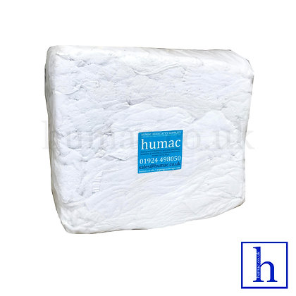 10KG WHITE TOWELING - TOWEL - WIPING CLOTH RAGS - OLS