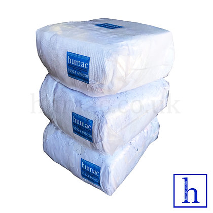 30KG WHITE WIPER - WIPING CLOTH RAGS - OLS