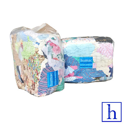 20KG - 100% MIX COTTON - GENERAL WIPING CLOTH RAGS - OLS