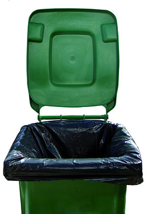 WHEELIE BIN BAG LINERS BLACK (200 PER BOX) - OLS